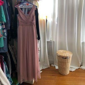 BHLDN dusty rose color dress